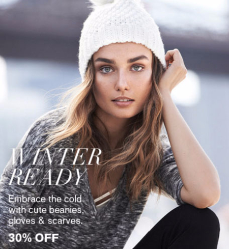 30% Off Beanies, Gloves & Scarves