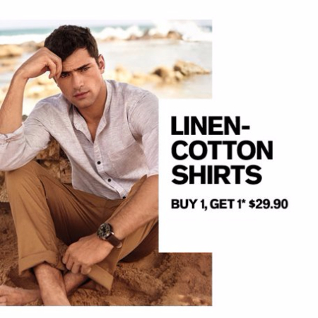 Linen-Cotton Shirts B1G1 $29.90