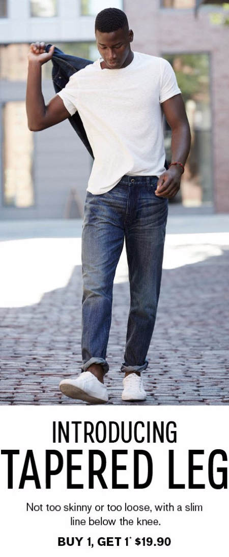 New Tapered Jeans B1G1 for $19.90