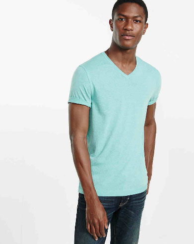 Eclipse Blue Express One Eleven Soft Wash V-Neck T-Shirt
