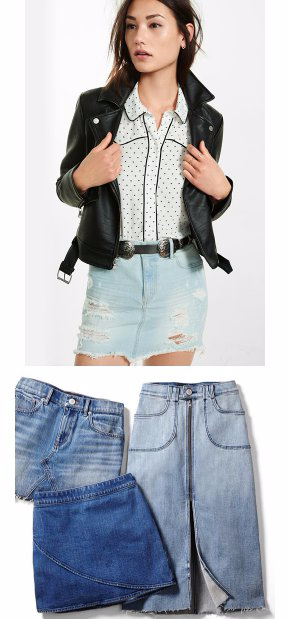 Must-Have Denim Skirts