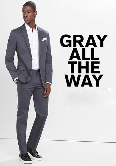 A Gray Suit to Take You to the Top at Express