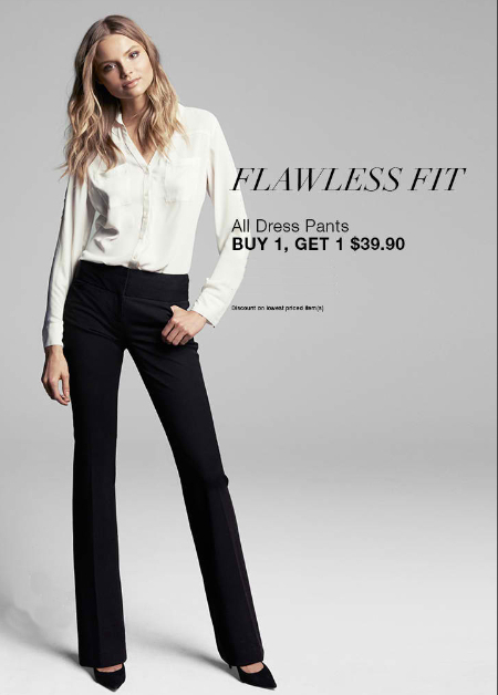 BOGO $39.90 All Dress Pants at Express