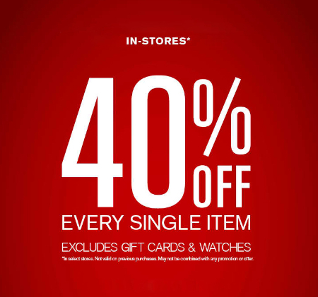 40% Off Every Single Item at Express