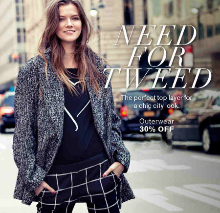 30% Off Outerwear at Express
