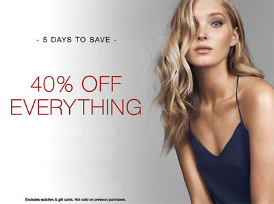 40% Off Everything at Express