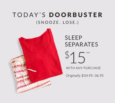 $15 Sleep Separates