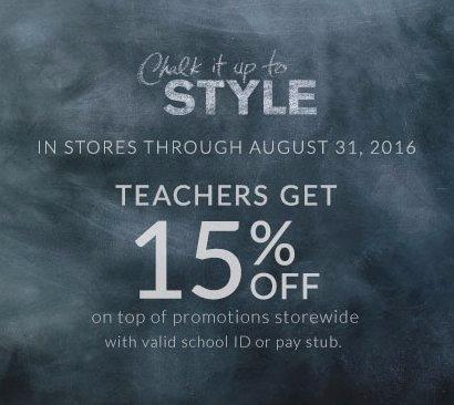 Teachers Get 15% Off