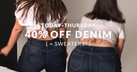 Jeans And Sweaters 40% Off
