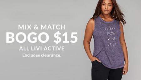 440187991d Concord Mall ::: BOGO $15 All LIVI Active ::: Lane Bryant