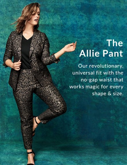 b28576e6aed7b Power Pockets Allie Sexy Stretch Ankle Pant - Pull-On Metallic Leopard