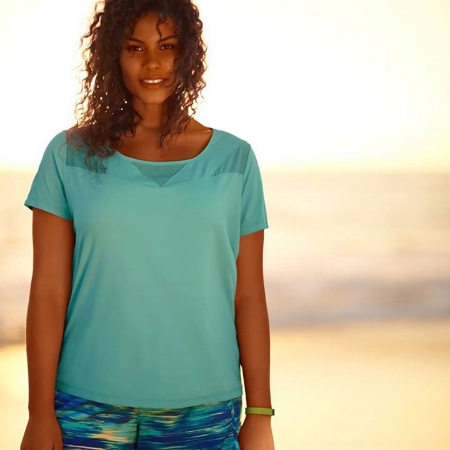 Feel Fresh in This Active Tee at Lane Bryant