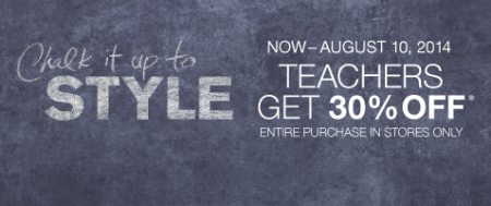 Teachers Get 30% Off at Lane Bryant