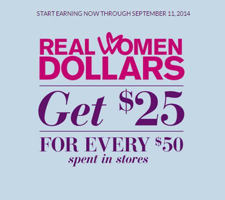 Real Women Dollars at Lane Bryant
