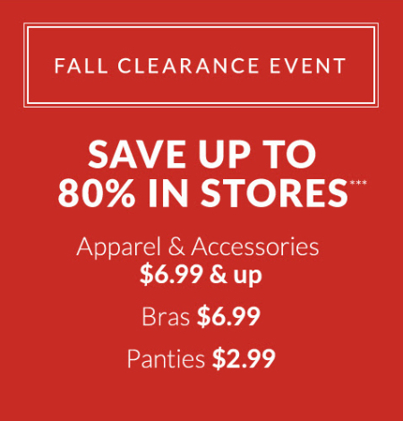 80% Off Fall Clearance Event at Lane Bryant