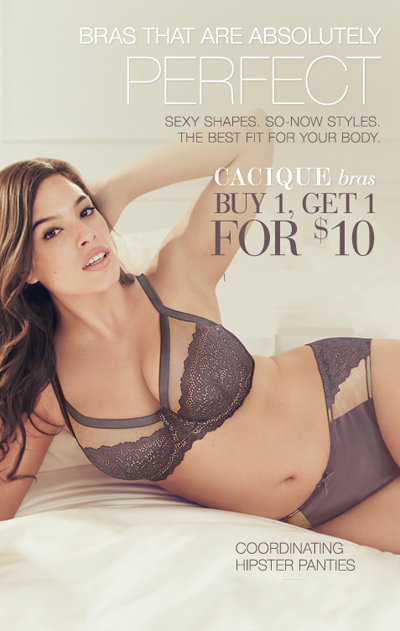BOGO $10 Bras at Lane Bryant