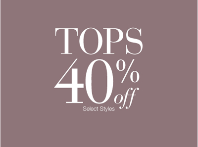 Tops 40% Off at Lane Bryant