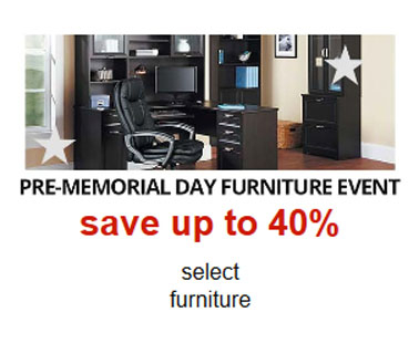 Up to 40% Off Pre-Momorial Day Furniture Event