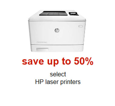 Up to 50% Off HP Laser Printers