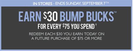Earn $30 Bump Bucks at Motherhood® Maternity