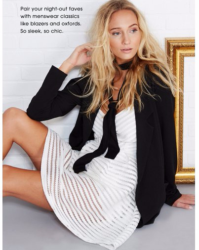 Suit Yourself in Dresses & Blazers at Wet Seal