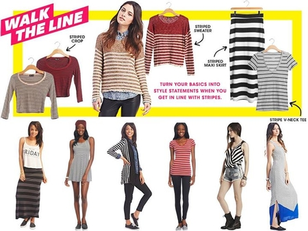 Be in Line With These Stripes at Wet Seal