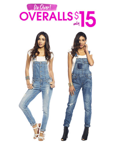 $15 Overalls at Wet Seal