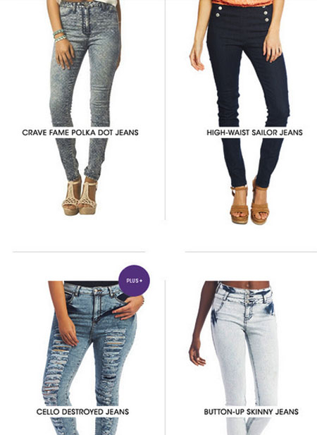 Shop High-Waisted Jeans at Wet Seal