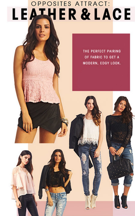 Leather & Lace at Wet Seal