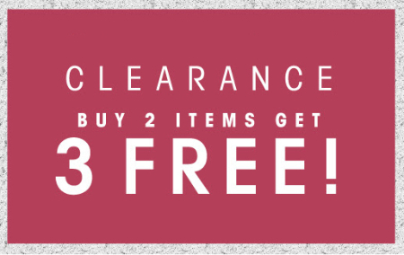 B2G3 Free Clearance Items at Wet Seal