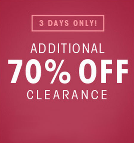 Additional 70% Off Clearance