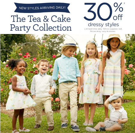 30% Off Dressy Styles at Gymboree