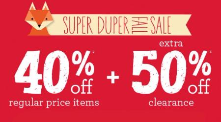 Super Duper Fall Sale