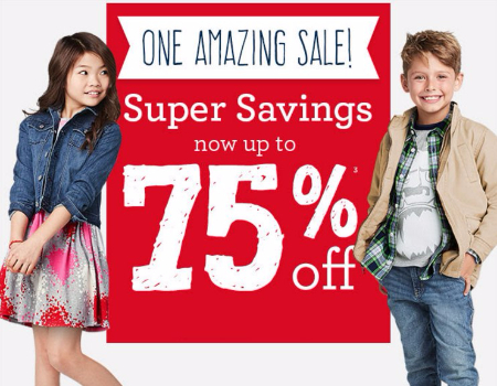 Super Savings Now up to 75% Off