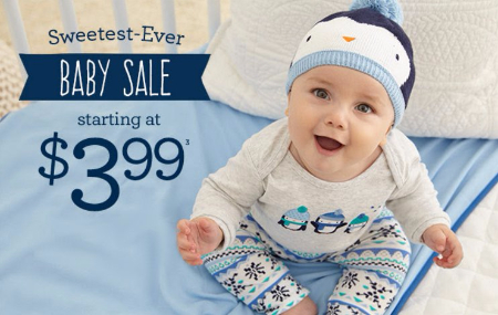 Baby Sale Starting at $3.99