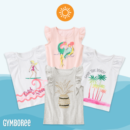 Get These Vacation-Ready Tees at Gymboree
