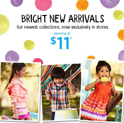 Bright New Arrivals at Gymboree