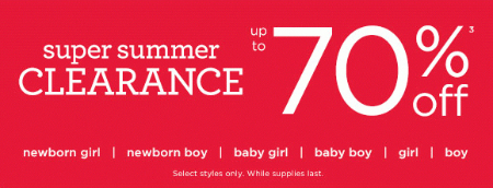 Super Summer Clearance at Gymboree