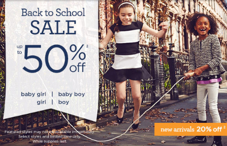 Back to School Sale at Gymboree