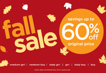 Up to 60% Off Fall Sale at Gymboree
