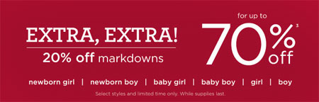 Extra 20% Off Markdowns at Gymboree