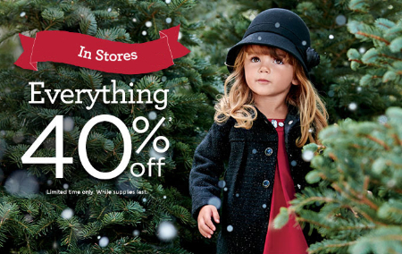 40% off Everything at Gymboree