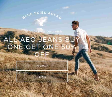 BOGO 50% Off AEO Jeans