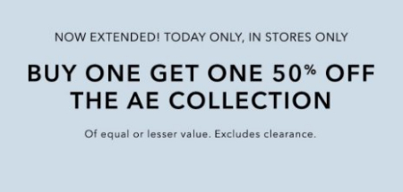 Governor's Square Mall ::: Buy One, Get One 50% Off The AE
