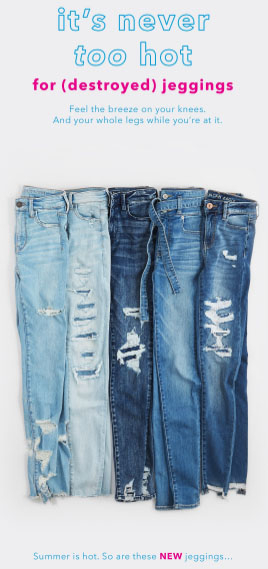 a7ca6f0b713 Colony Square Mall ::: New Destroyed Jeggings ::: American Eagle ...