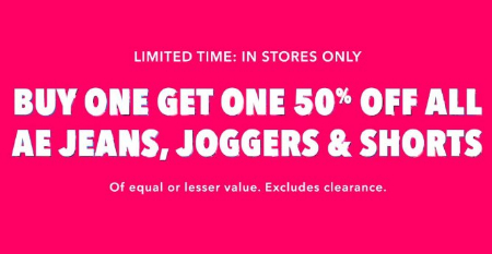 South Hill Mall ::: Buy One, Get One 50% Off All AE Jeans