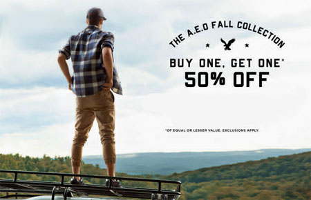 BOGO 50% Off at American Eagle Outfitters/Aerie
