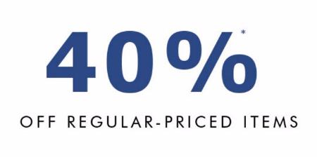 40% Off Regular-Priced Items