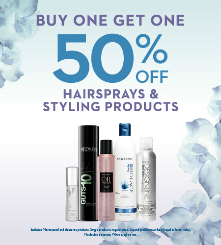 BOGO 50% OFF STYLING PRODUCTS AT REGIS SALON