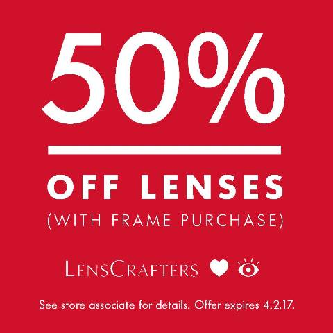 LensCrafters | 50% Off Lenses